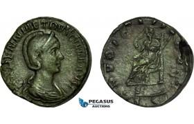 AC025, Roman Empire, Herennia Etruscilla (AD 249-251) Æ Sestertius (19.05g) Rome, AD 250, Pudicitia