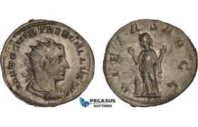 AC027, Roman Empire, Trebonianus Gallus (AD 251-253) BL Antoninian (3.09g) Rome, AD 252, Pietas