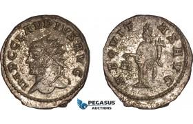 AC028, Roman Empire, Claudiu II Gothicus (AD 268-270) Æ Antoninian (3.35g) Antioch, Aequitas