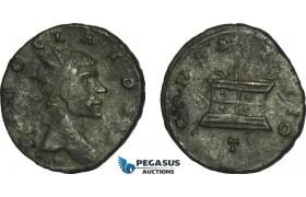AC029, Roman Empire, Divus Claudiu II Gothicus (Died AD 270) Æ Antoninian (2.91g) Mediolanum. AD 271, Consecratio