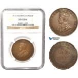 AC031, Australia, George V, Penny 1915, London, NGC XF45BN