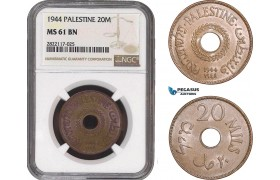 AC073, Palestine, 20 Mils 1944, London, NGC MS61BN