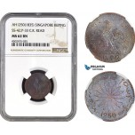 AC084, Singapore, Keping AH1250 (1835) Prid. 33, NGC MS62BN