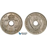 AC098, East Africa & Uganda Protectorates, Edward VII, 10 Cents 1910 , London, AU