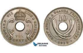 AC098, East Africa & Uganda Protectorates, Edward VII, 10 Cents 1910 , London, AU