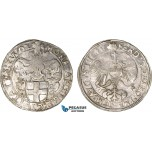 AC111, Netherlands, Zwolle, Rijksdaalder 1646, Silver (28.62g) Del. 720 (R4) Extremely Rare, Lustrous AU