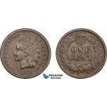 AC123, United States, Indian Head Cent 1874, Philadelphia, F-VF