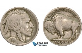 AC125, United States, Buffalo Nickel (5C) 1915-S, San Francisco, aVF