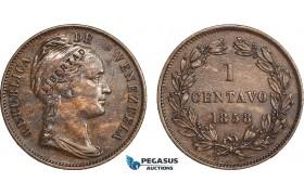 AC132, Venezuela, 1 Centavo 1858, XF