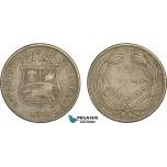AC133, Venezuela, 2 1/2 Centavos 1876, aVF
