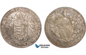 AC139, Hungary, Joseph II, Taler 1786-B, Kremnitz, Silver (27.98g) Toned, VF-XF