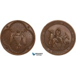 AC161, Egypt, Bronze Medal 1856 (Ø40mm, 31.5g)  Missionary Society, The Flight into Egypt