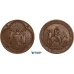 AC161, Egypt, Bronze Medal 1856 (Ø40mm, 31.5g)  Missionary Society, The Flight into Egypt