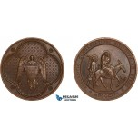 AC162, Egypt, Bronze Medal 1856 (Ø40mm, 31.5g)  Missionary Society, The Flight into Egypt
