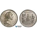 AC164, France & Russia, Tin Medal 1739 (Ø41.5mm, 32.5g) by Marteau, Ottoman Empire, Peace of Belgrade