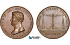 AC172, Sweden, Bronze Medal 1830 (Ø41mm, 45.6g) by Loos, Berzelius, Medicine & Pharmacy