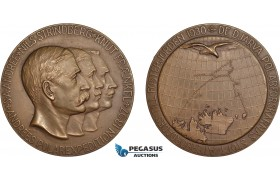 AC183, Sweden, Bronze Medal 1930 (Ø56mm, 71g) by Ohlson, Arctic Balloon Polar Expedition