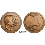 AC184, Sweden, Bronze Medal 1930 (Ø56mm, 71g) by Ohlson, Arctic Balloon Polar Expedition
