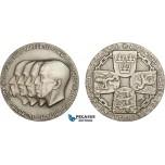 AC186, Sweden, Finland, Norway & Denmark, Silver Medal 1939 (Ø44.5mm, 43.7g) Stockholm