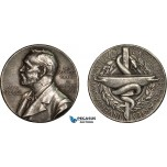 AC187, Sweden, Silver Medal Undated (Ø27mm, 12g) Alfred Nobel, Swedish Medical Society