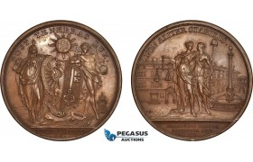 AC188, Switzerland, Bronze Medal 1738 (Ø54.5mm, 66.5g) by Dassier, Geneva, Justice & Peace