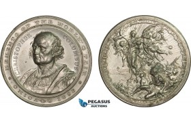 AC191, United States, White Metal  Medal 1893 (Ø59mm, 79g) Christopher Columbus, Chicago Exposition