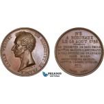 AC197, France & Italy, Bronze Medal 1826 (Ø50mm, 60.2g) by Peuvrier, Carle Vernet, Austerlitz, Marengo