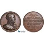 AC198, France, Poland & Russia, Bronze Medal 1826 (Ø50mm, 60g) by Peuvrier, Suchet, Duke of Albufera