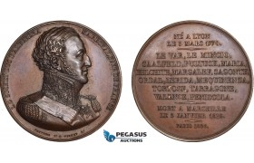 AC198, France, Poland & Russia, Bronze Medal 1826 (Ø50mm, 60g) by Peuvrier, Suchet, Duke of Albufera
