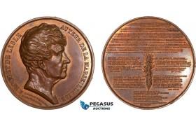 AC199, France, Bronze Medal 1833 (Ø50mm, 72.5g) by Rogat & David, Rouget de Lisle, Marseillaise