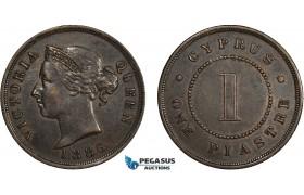 AC205, Cyprus, Victoria, 1 Piastre 1886, aXF