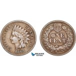 AC216, United States, Indian Cent 1868, Philadelphia, Brown VF