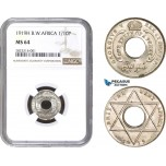 AC218, British West Africa, George V, 1/10 Penny 1919-H, Heaton, NGC MS64