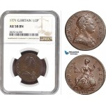 AC240, Great Britain, George III, 1/2 Penny 1771, London, NGC AU58BN