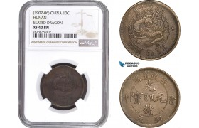 AC276-R, China, Hunan, 10 Cash 1906, Y-112.10, NGC XF40BN