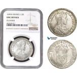 AC281, France, Louis XIV, 1/2 Ecu 1649-A, Paris, Silver, NGC UNC Det.