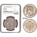 AC285, France, Napoleon III, 5 Francs 1862-A, Paris, Silver, NGC AU58, Rare!