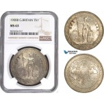 AC298, Great Britain, Trade Dollar 1908-B, Bombay, Silver, NGC MS63