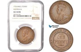 AC333, Australia, George V, 1 Penny 1926 (M&S) NGC AU50