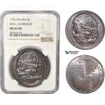 AC364, France, Louis XVI, 5 Sols 1792, Maz-145 Bronze, NGC MS65BN