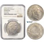 AC365, France, Napoleon, 5 Francs 1810-L, Bayonne, Silver, NGC AU Det.