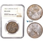 AC379, Great Britain, Victoria, 1 Penny 1862, London, NGC MS64BN