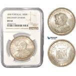 AC418, Portugal, Carlos I, 1000 Reis 1898, Lisbon, Silver,