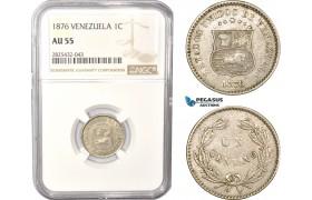 AC485-R, Venezuela, 1 Centavo 1876, NGC AU55