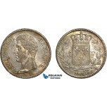 AC491, France, Charles X, 5 Francs 1826-W, Lille, Silver, Toned AU (Scratched)