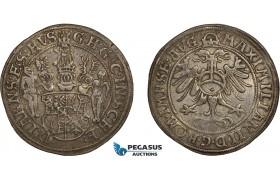 AC494, Germany, Schwarzburg, Günther XLI. & Johann Günther I, 1/2 Taler ND (ca. 1566) Arnstadt, Silver (13.97g) Very Rare!