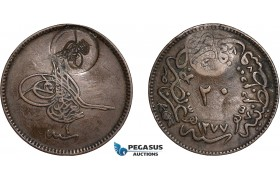 AC510, Ottoman Empire, Turkey, Abdülmecid, 20 Para AH1255/4, Tughra counter stamp, Wilski, Countermarks A T­01