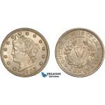 AC511-R, United States, Liberty Nickel (5C) 1906, Philadelphia, AU-UNC
