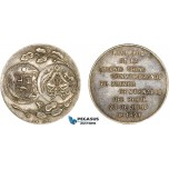 AC514, China & Peru, Silver Medal 1921 (Ø29.7mm, 12.4g) Colonists' Centennial of Peruvian Independence L&M-997, Rare!