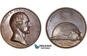 AC526, Sweden, Bronze Medal 1841 (Ø43.5mm, 36.9g) by Lundgren, Gustav af Klint, Admiral & Cartographer